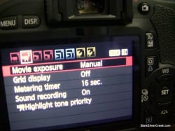 Manual shooting T2i video