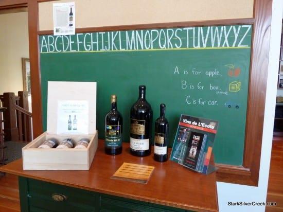 L'Ecole No. 41 winery tasting room chalk board, Walla Walla
