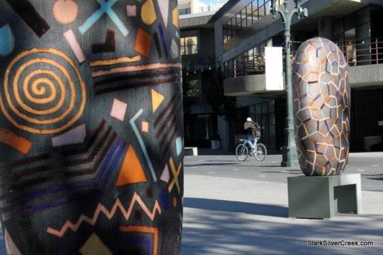 Convergence by Jun Kaneko on Paseo de San Antonio, San Jose