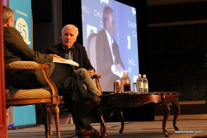 James Cameron with Eric Schmidt at Churchill Club