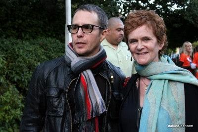 Sam Rockwell with MVFF director of programming Zoe Elton.