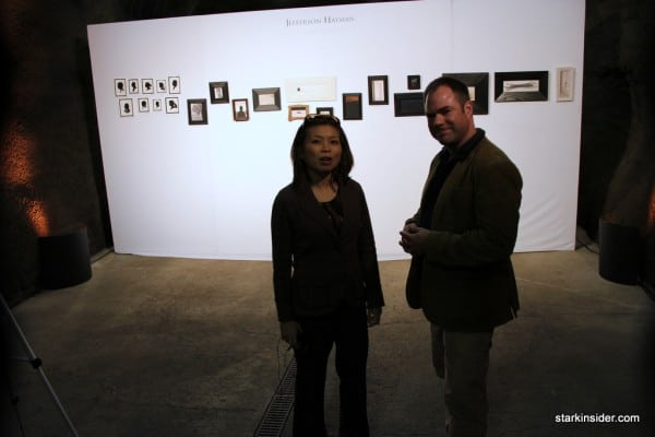 Loni Kao on a tour of the exhibit with Jefferson Hayman