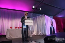 San Francisco Mayor Ed Lee addresses supporters at the 2011 Heroes & Hearts Luncheon.