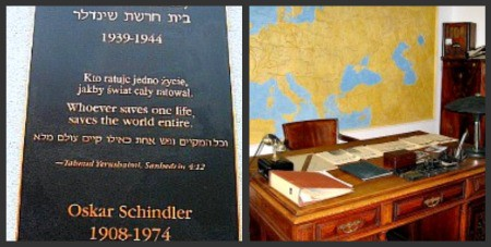 Schlinder's actual desk where he signed papers to save the Jews.