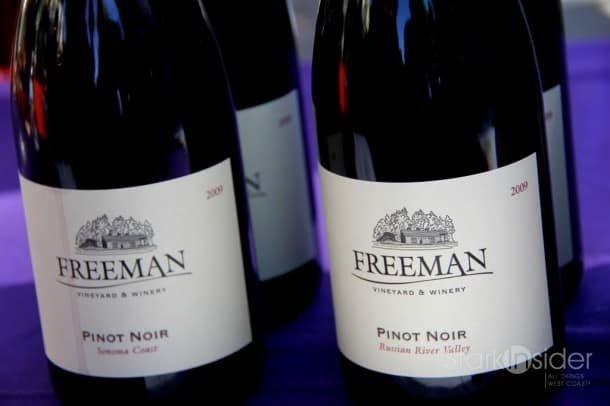 2009 Freeman Vineyard Sonoma Coast Pinot - Recommended. Earthy with vanilla, some oak. Balanced. Might be hard to find. Grapes sourced from the Guidici Vineyard which yields less than 1 tonne per acre. $42.