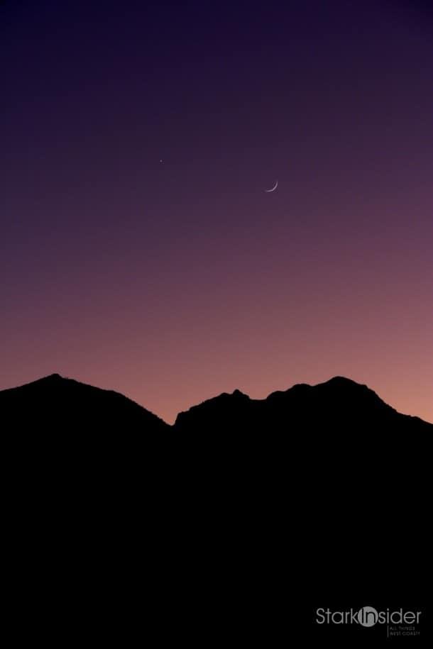 Moon over Sierra de La Giganta