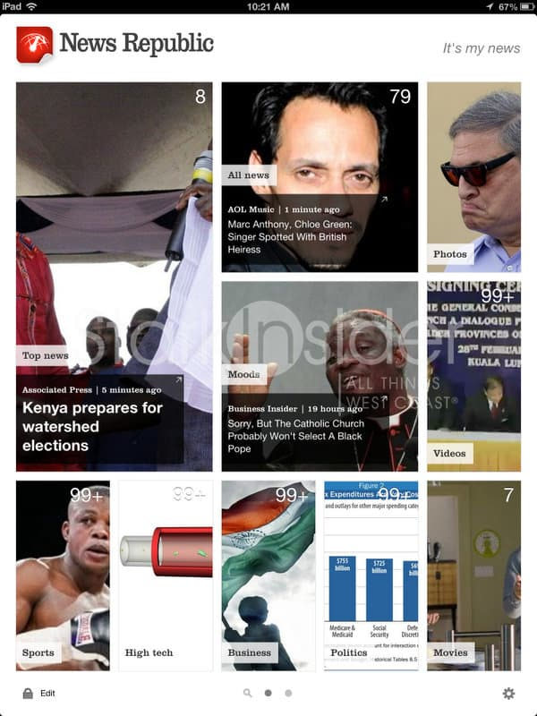 News Republic 3.0 for iPad, Android Tablets