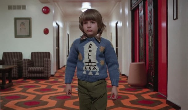 Well that seals the deal. Danny's wearing an Apollo sweater. Another proof point that Stanley Kubrick faked the Apollo moon landing.