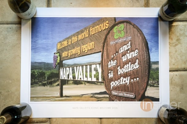 Welcome Sign Napa Valley