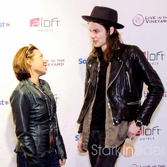Loni Stark with James Bay Interview - Live in the Vineyard