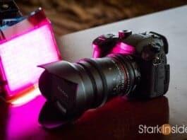 Panasonic GH5 with Rokinon 35mm lens