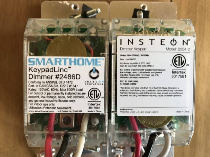 Old and new Insteon dimmer comparison