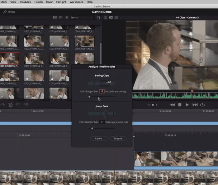 DaVinci Resolve - The Boring Detector - Video demo