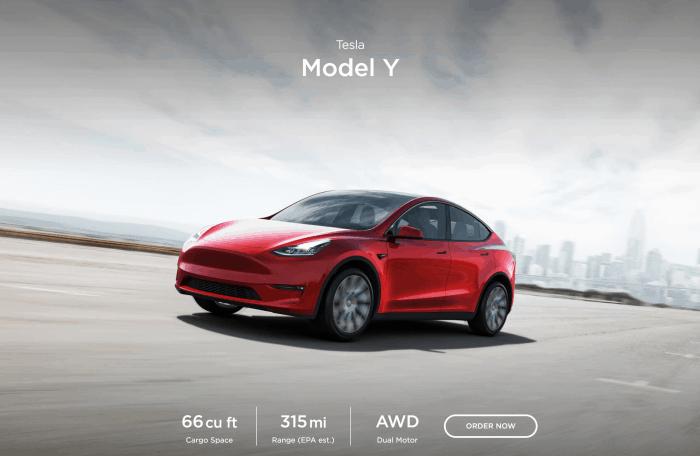 Tesla Model Y SUV ships March 2020