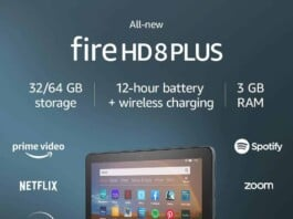 """All-new Fire HD 8 Plus tablet, HD display, 64 GB, 8"""" tablet for portable entertainment"""