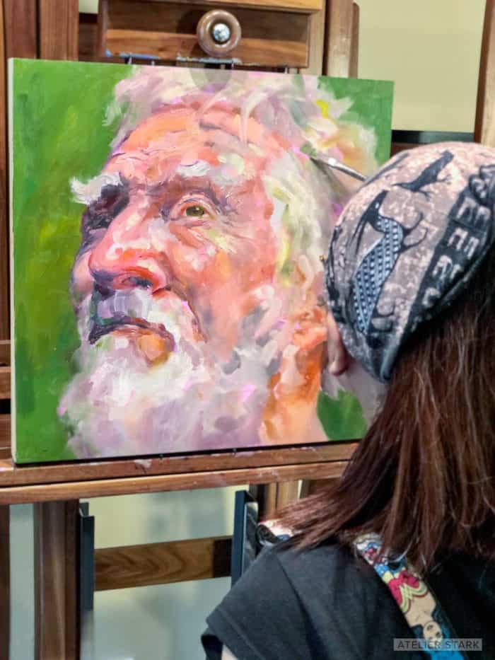 Loni Stark - Atelier Stark - Head of Kronos - Oil on Canvas - Copyright Stark