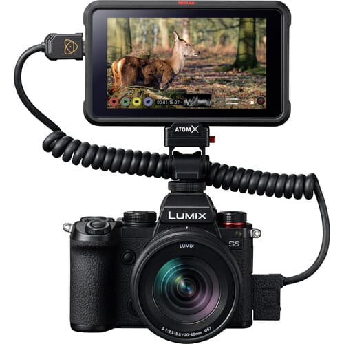 Panasonic S5 with Atomos Ninja recorder