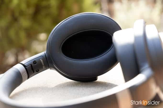 Sennheiser HD 450BT wireless noise cancelling headphones - Closeup