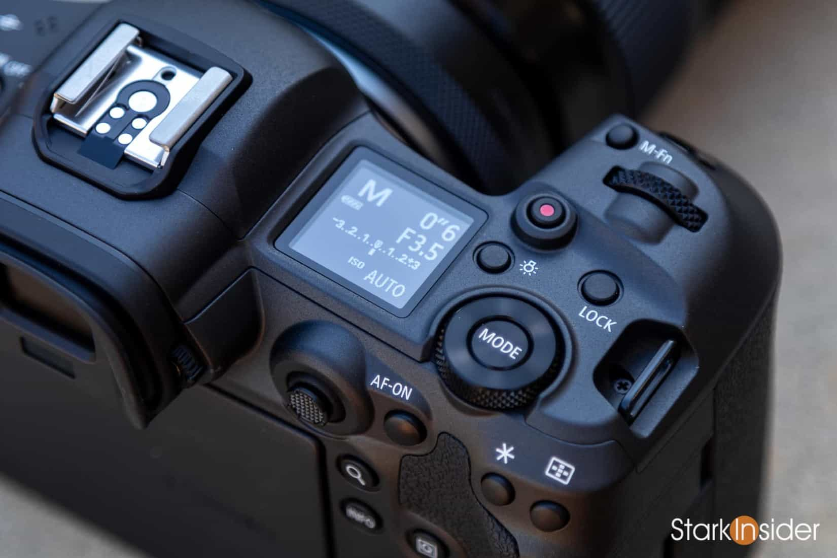 Canon EOS R5 - Top Plate LCD