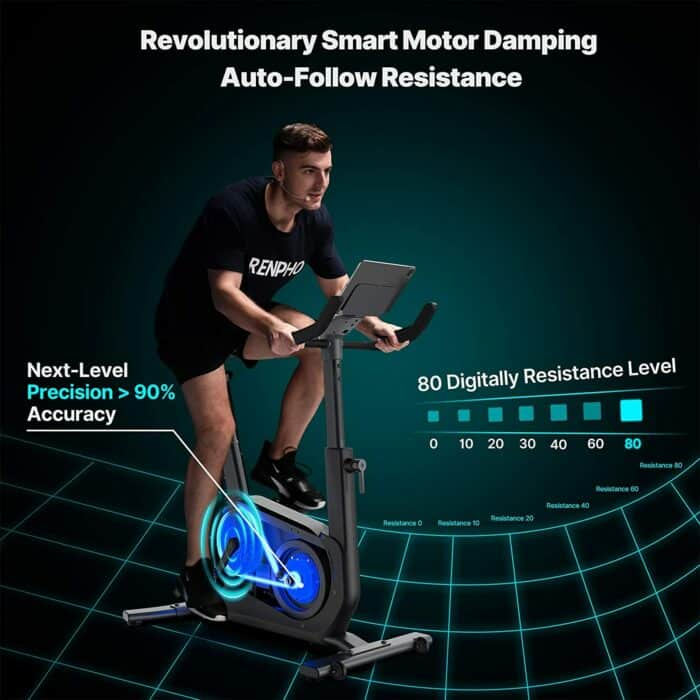 Renpho exercise bike - Auto-Follow resistance