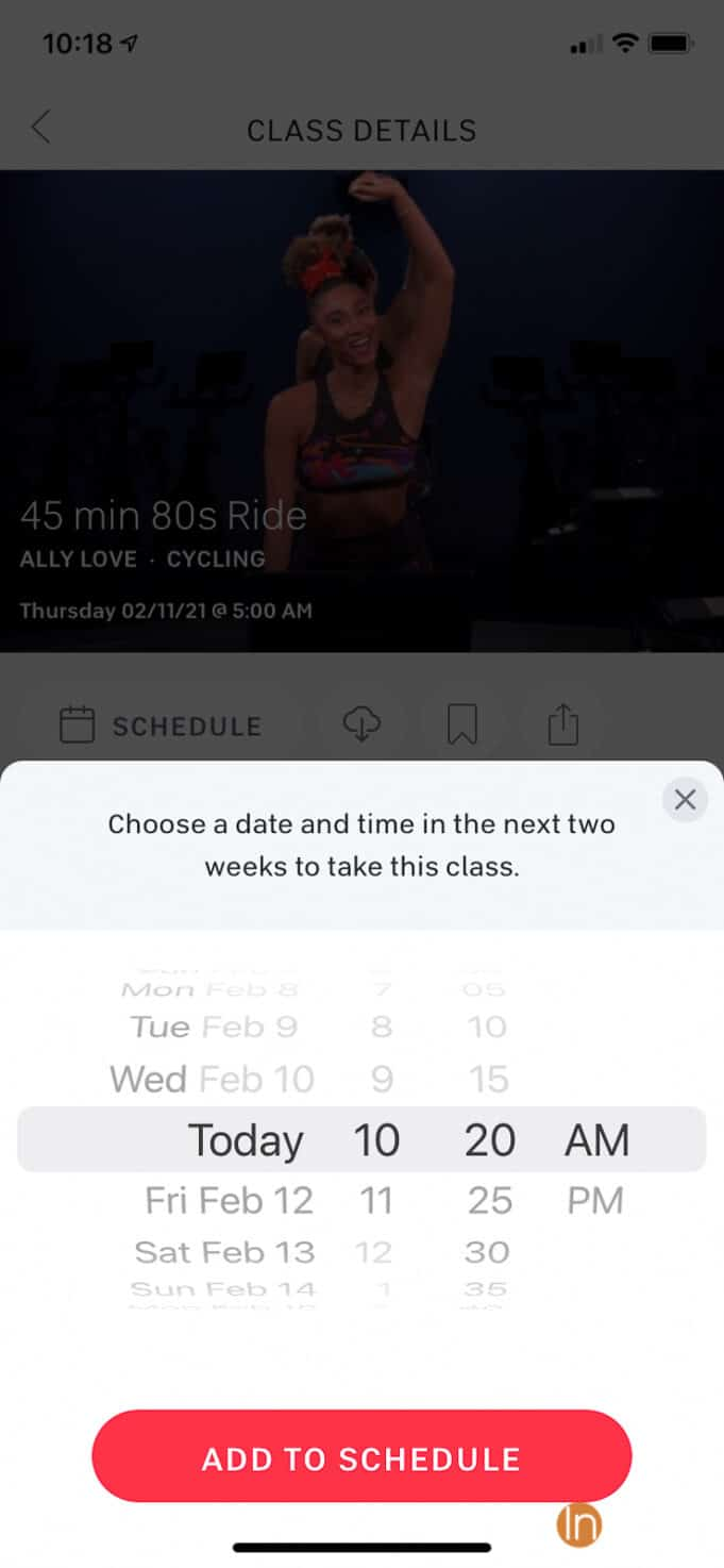 Peloton Schedule Feature - How to build a custom calendar of workout classes using the Peloton app