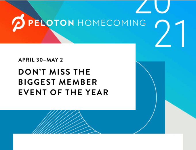 Peloton Homecoming 2021 - Virtual event schedule, thoughts