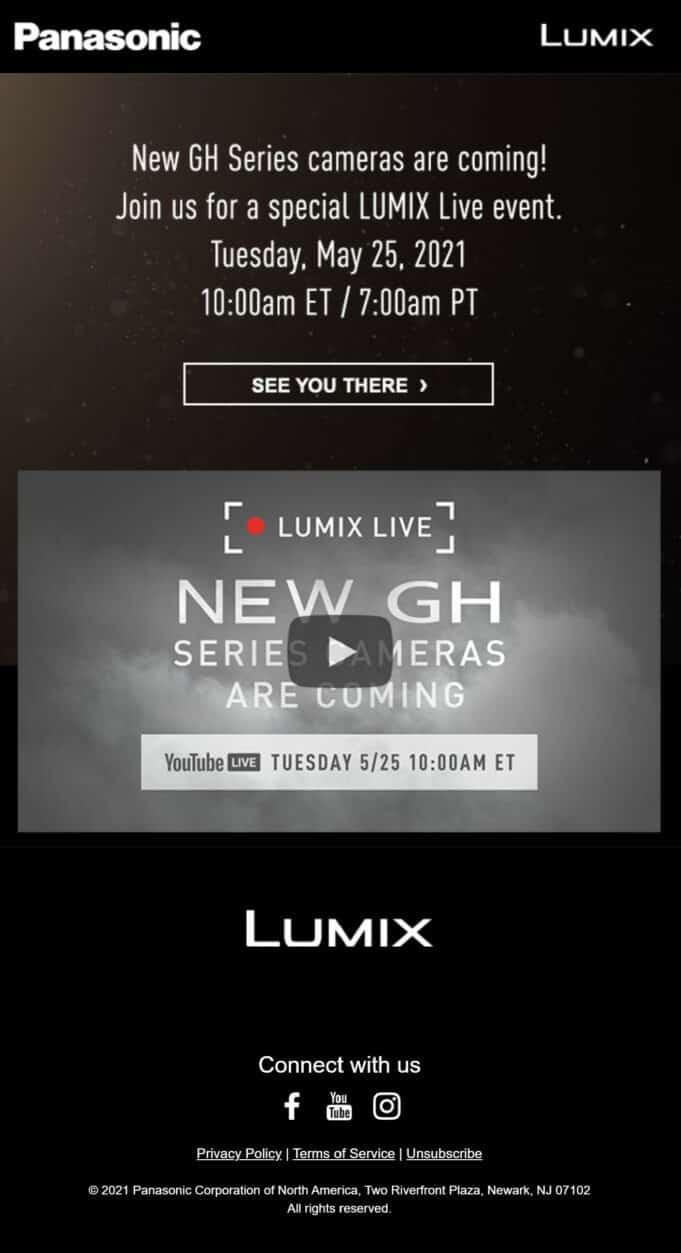 Panasonic Lumix Live announcement - GH5 Mark II, GH6 cameras