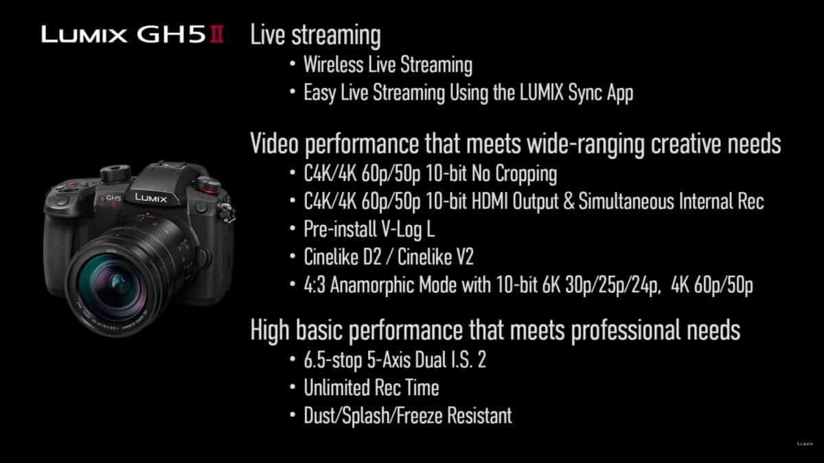 Panasonic Lumix GH5 Mark II specs announcement - camera news