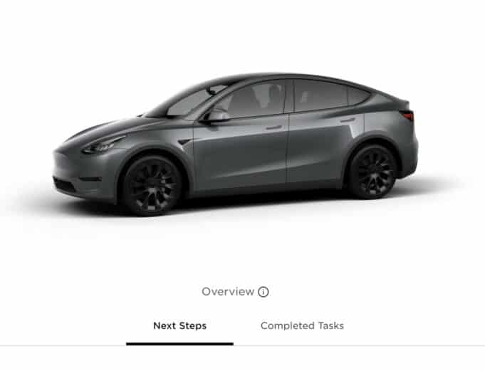 Tesla Model Y order - container hold