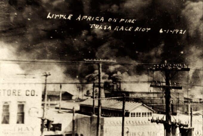 Tulsa race massacre - Postcard in the collection of McFarlin Library, University of Tulsa.