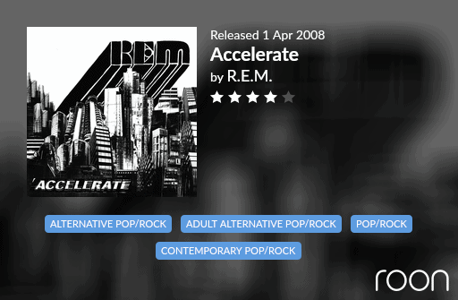 Accelerate Allmusic Review 2008 REM revisited