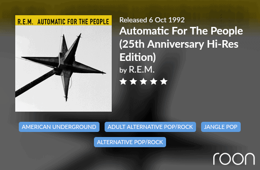 Automatic For The People Allmusic Review 1992 REM revisited