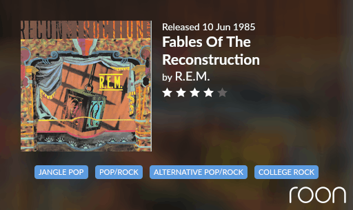 Fables Of The Reconstruction Allmusic Review 1985 REM revisited