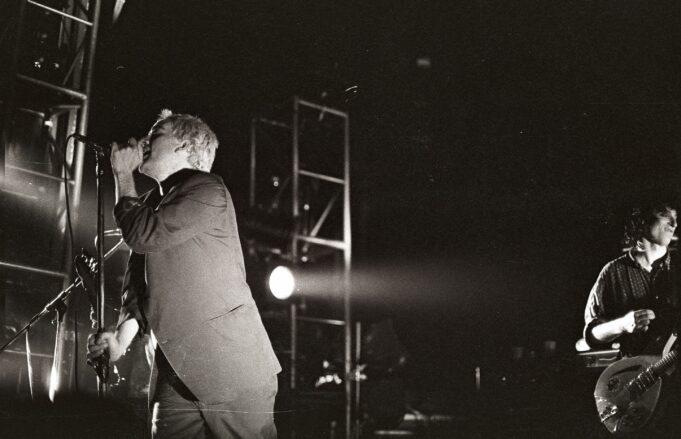 R.E.M. on tour in Ghent, Belgium during 1985 tour.