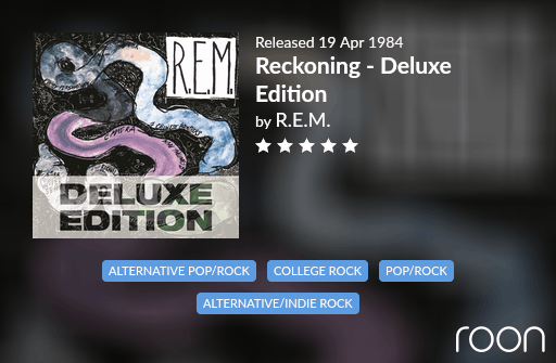 Reckoning Allmusic Review 1984 REM revisited