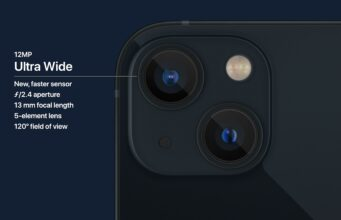 Apple iPhone 13 - dual camera system ultra wide lens
