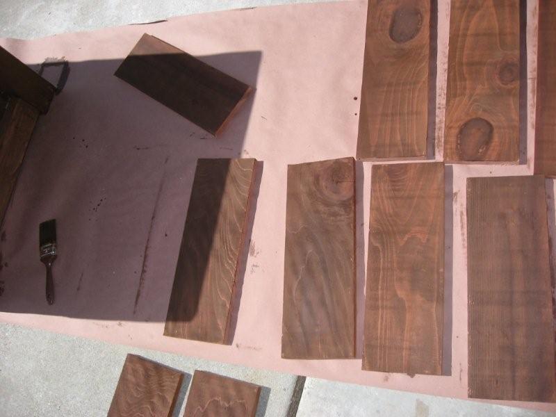 Planter box wooden panels for bottom