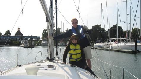 Clinton and Loni Stark sailing in the San Francisco Bay
